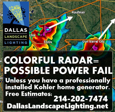 We're getting some much needed #rain in #NorthTX ! Let it be a reminder that the changing season will bring changing weather patterns. Be prepared with a #BackUpPower #Generator installed by #Dallas Landscape Lighting (Free Estimates!) http://www.dallaslandscapelighting.net/services/stand-by-generators/ or 214-202-7474 #DallasTX #plano #parkcities #frisco #rockwall #collincounty #generators #power #backupgenerator #dallaslandscapelighting