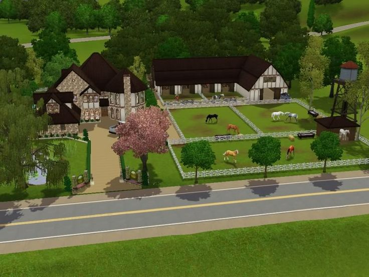 34 Best Sims 3 Lots Mostly Horse Images On Pinterest