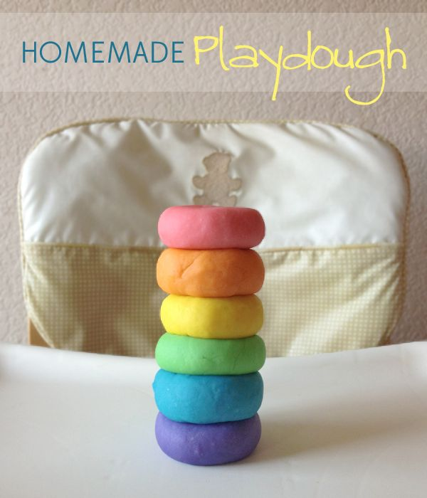 Homemade Play Dough (excellent way to use up some of your non-paleo food without wasting it) | Our Paleo Life #paleokids #recipe #rainbow #playdough #homemade