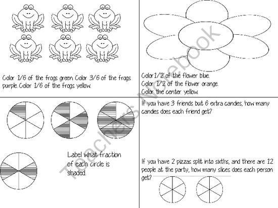 math worksheet : 27 best fractions images on pinterest  teaching math math  : Fraction Packet