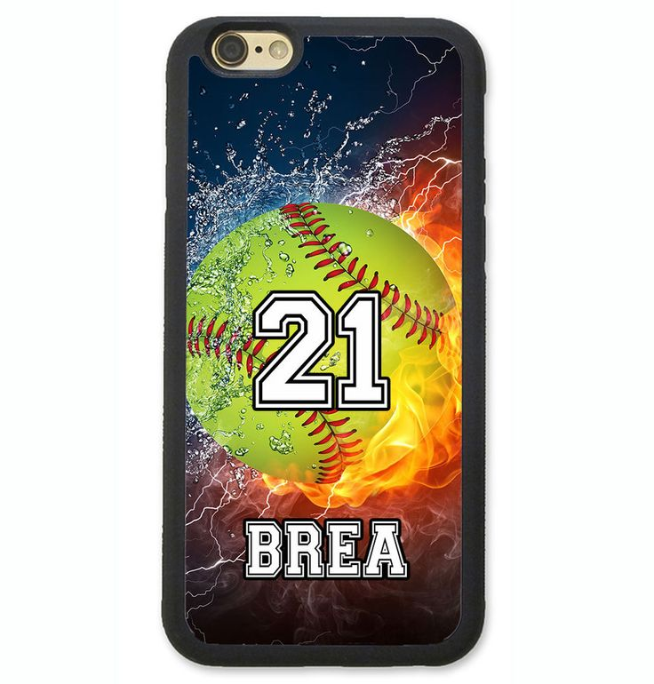 PERSONALIZED NUMBER NAME SOFTBALL PHONE CASE COVER FOR IPHONE 7 6 6S PLUS SE 5S #UnbrandedGeneric