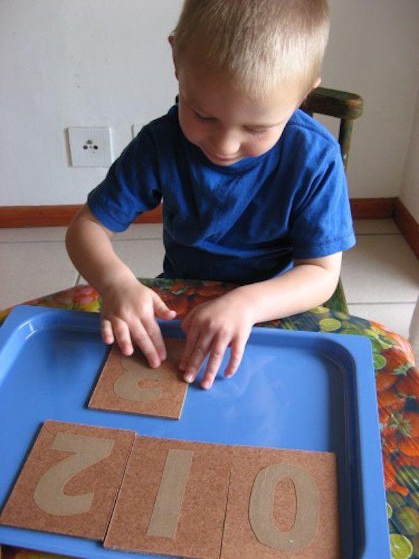 Aprender los números con Montessori, ideas caseras
