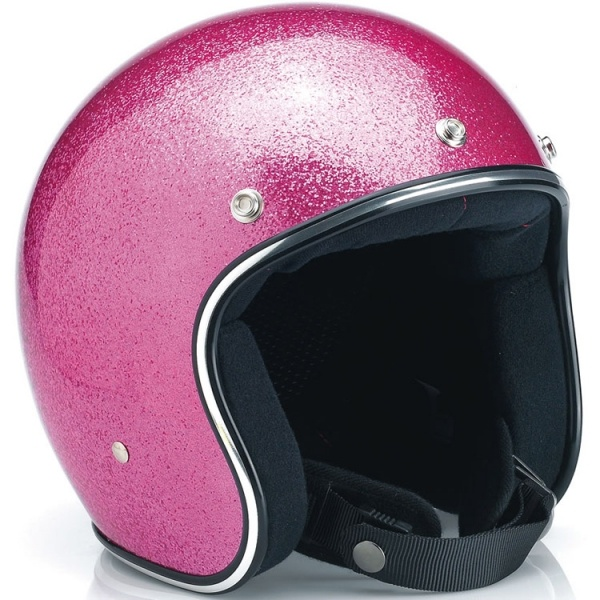 Oh the joy of owning a pink helmet. you will need this to go with your go-cart!