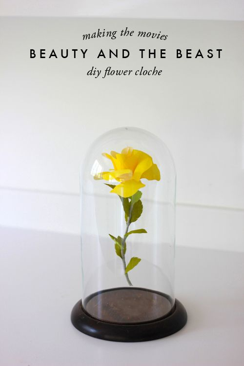 Beauty and the Beast centerpiece.... how-to (though I wouldn't make the flower, I'd use real ones or pre-made silk ones)