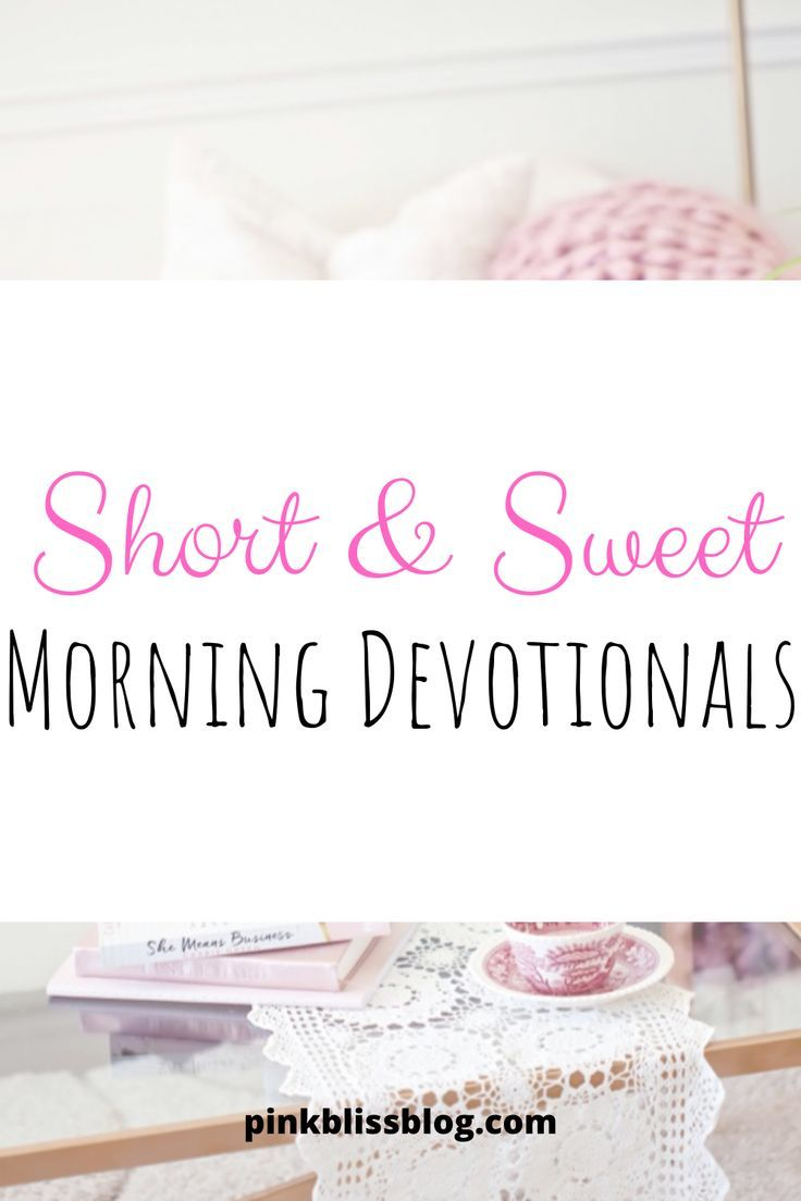 Devotions young Daily Devotions