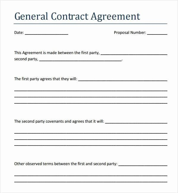 Simple Payment Agreement Template Inspirational 5 Contract Agreement Between Two Parties Samples Free Contract Agreement Contract Template Contractor Contract