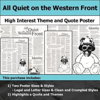 Highlight key themes and pique students interest with this printable poster. The image can be printed on 8.5x11 and 8.5x14 paper for a bulletin board, student workbook covers, etc. There are two styles: clean and crumpled. You can also enlarge the image for