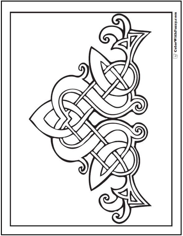 Fuzzy's Celtic Designs:  Patrick Celtic Coloring