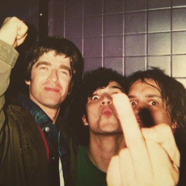 Noel Gallagher, Fab Moretti & Julian Casablancas.