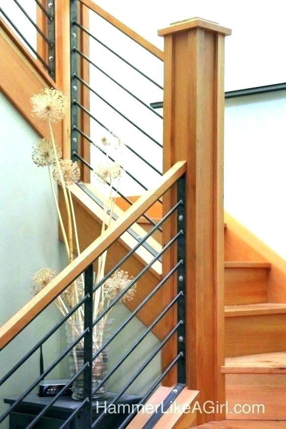 Wood Stair Railing Kits Modern Interior Railings Diy Inte