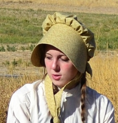 An essential item for female trekkers!  Functional and pretty, a bonnet offers protection from the sun and wind of the open plains.