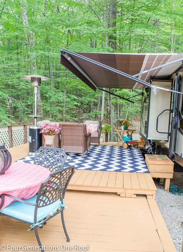 225 best mobile home porch designs images on pinterest for Rv decks
