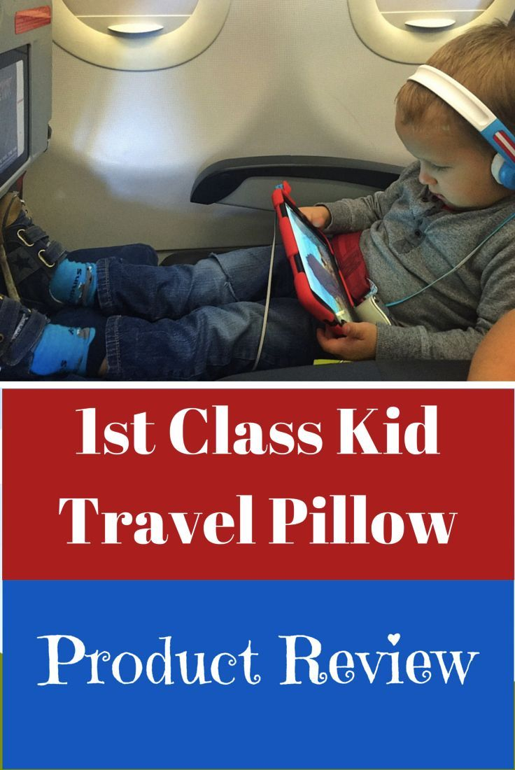 A review of the 1st Class Kid Travel Pillow – an inflatable pillow that fills the legroom gap on the plane, turning your child's economy seat into a flatbed.