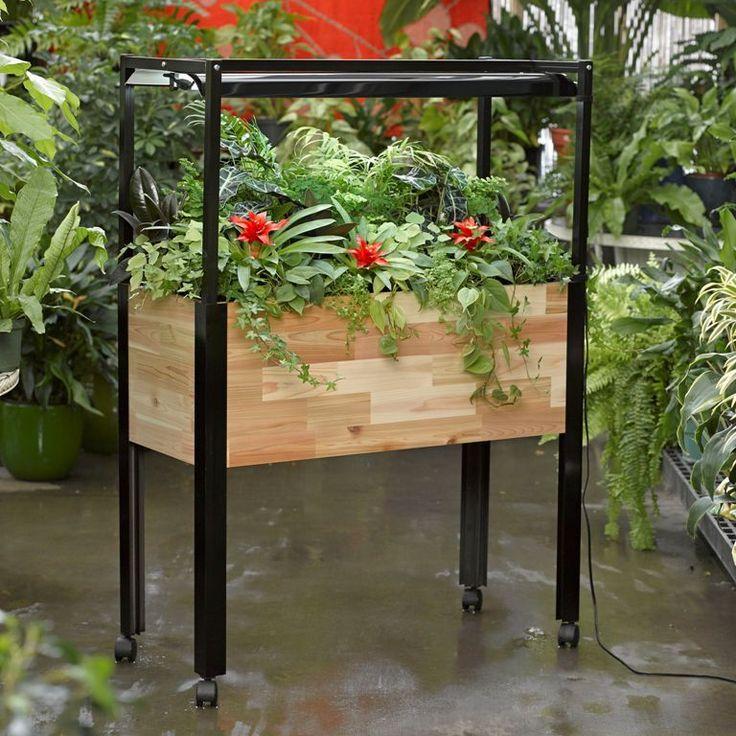 Kitchen Garden Planter   Standing Herb Garden With Lights