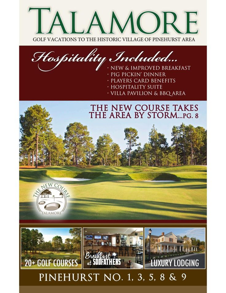 Talamore Golf Resort 2017 Golf Vacation Guide