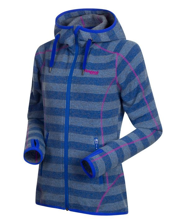 Look at this Cobalt Stripe & Tulip Pink Wool-Blend Humle Jacket on #zulily today!