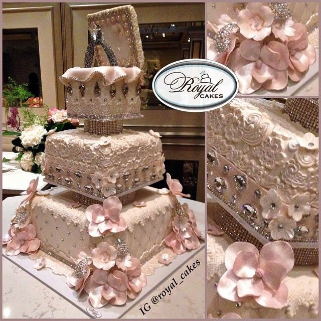 Nigerian Wedding: 27 Extravagant & Luxurious Engagement & Wedding Cakes By Royal Cakes - Nigerian Wedding