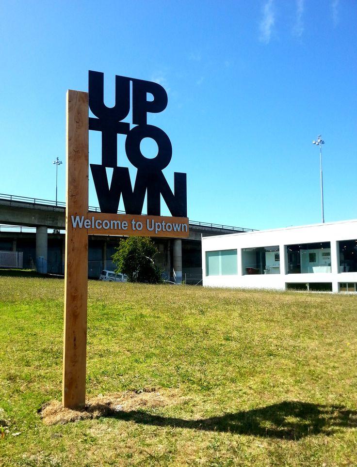 Uptown gateway sign by Speedy Signs Newton