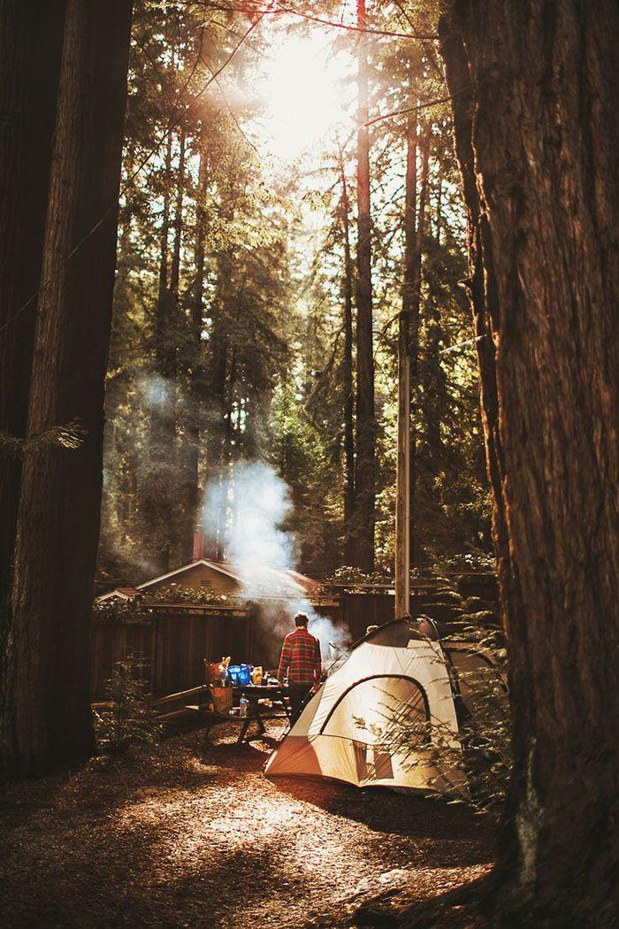 おしゃれなキャンプのスナップ写真集