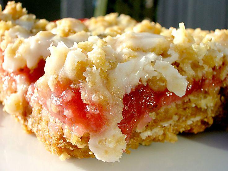 Rhubarb Bar Recipes | Strawberry Rhubarb Crumb Bars
