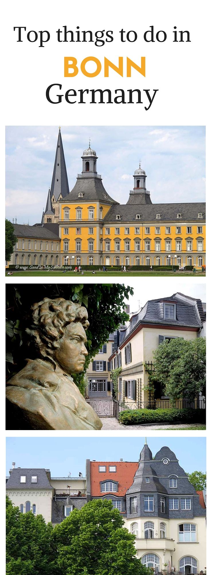 BONN, Germany | Bonn doesn't get the same ink as more famous German cities (like Berlin). But there are lovely things to do in Bonn. Like visiting the house where Beethoven was born. And taking a scenic Rhine cruise to Konigswinter to see the medieval castle there. Give Bonn a try!