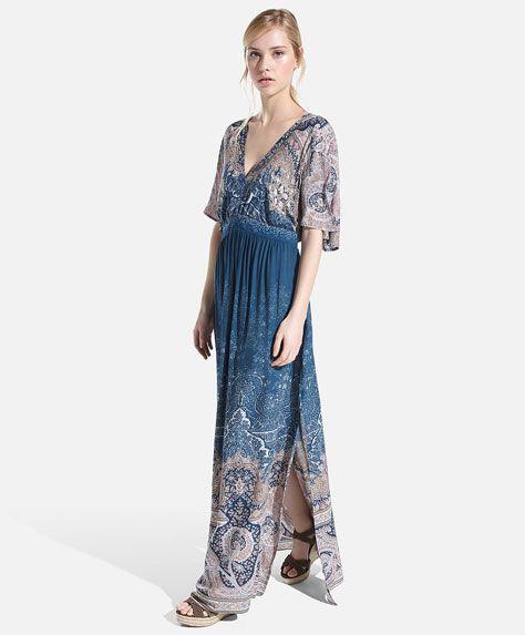 Sukienka w orientalny deseń z efektem cieniowania - OYSHO