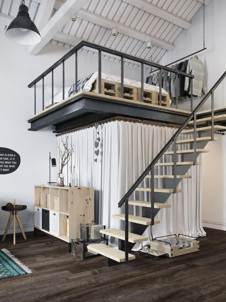 25 best ideas about mezzanine bedroom on pinterest mezzanine mezzanine loft and small loft - Mezzanine design ideas ...