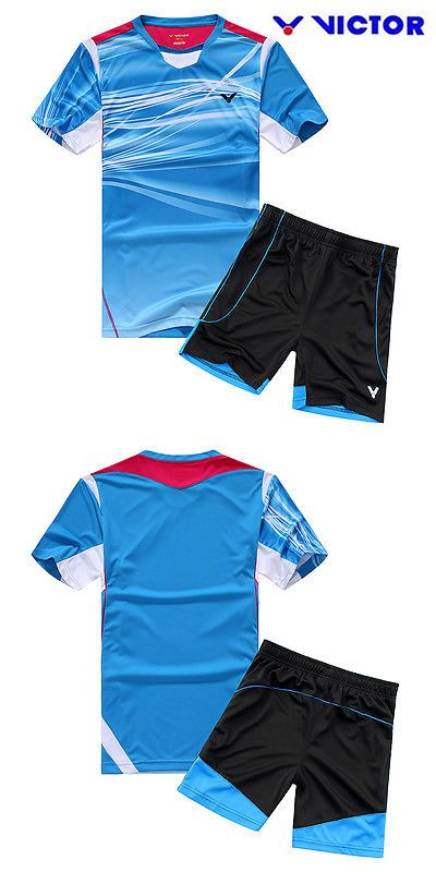 Shirts and Tops 70900: 2015 New Victor Mens Table Tennis Badminton Clothes Set T Shirt+Shorts 36119 BUY IT NOW ONLY: $31.99