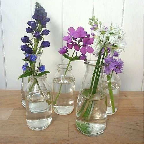 Best 25 mini milk bottles ideas on pinterest starbucks for Flowers in glass bottles