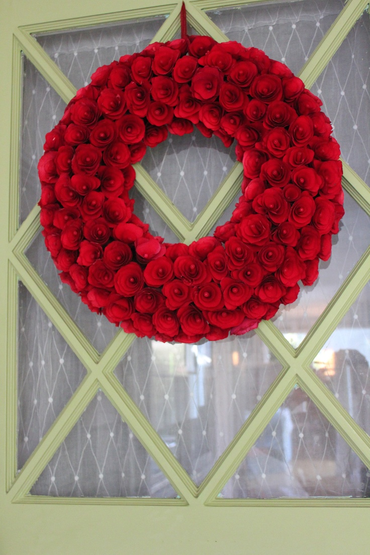 Love My New Red Wreath On My Green Door Smith And Hawken