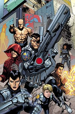 Secret Warriors by Leinil Francis Yu- Marvel; series featuring Nick Fury & Team White, a fictional team of superpowered agents. Created by Brian Michael Bendis & Alex Maleev, the characters were introduced in Mighty Avengers #13, & debuted as a team in 2008.