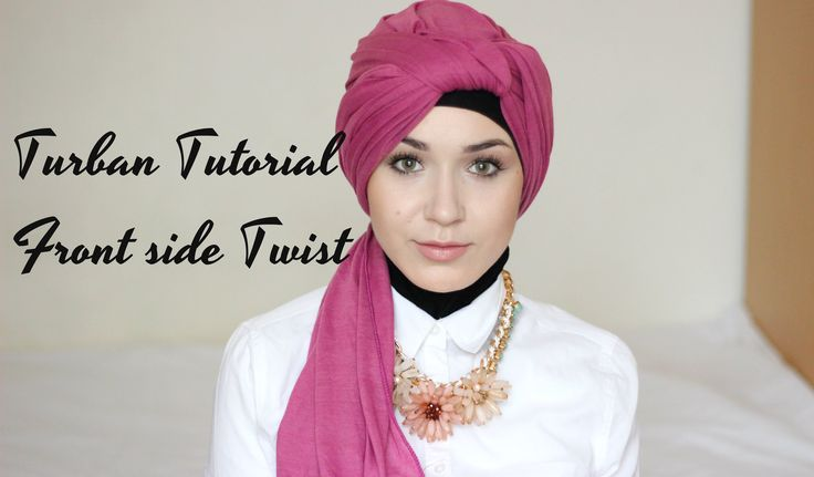 Turban Tutorial - Front Side Twist | Nabiilabee | DIY