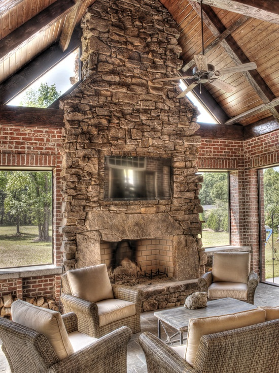 Best 25 Fireplace On Porch Ideas On Pinterest