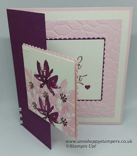 Ann's Happy Stampers: Fun Fold Card using Stampin up Products