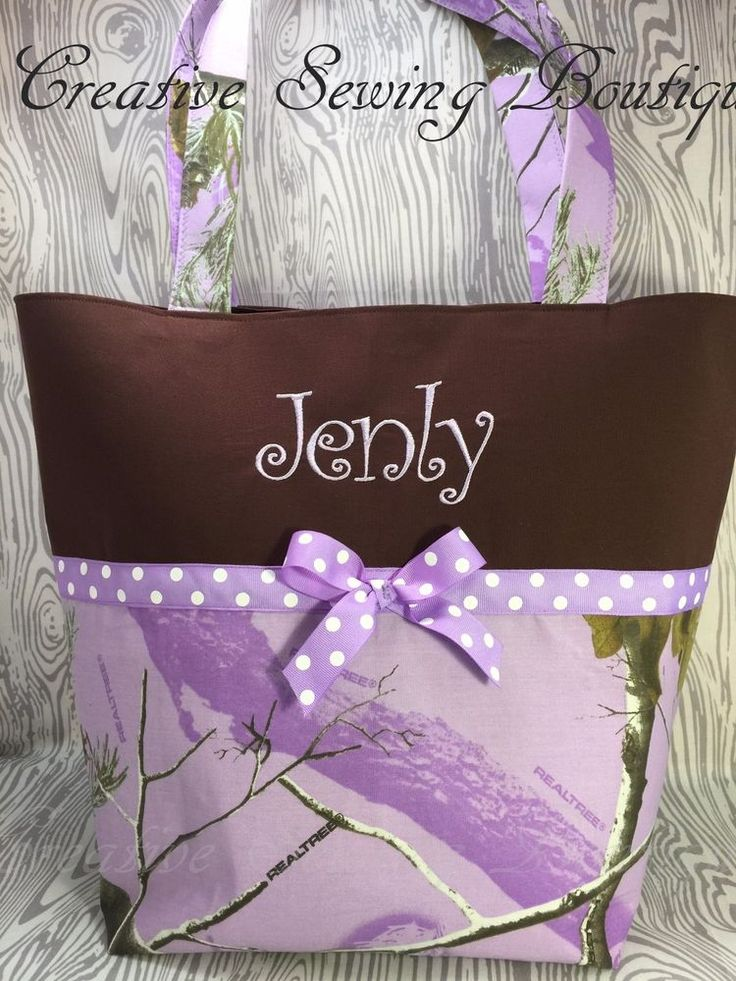 LAVENDER REAL TREE CAMO DIAPER BAG CAMOUFLAGE DIAPER BAG, TOTE BAG  NAME CHOICE  #Handmade #DiaperbagToteBag