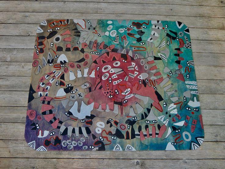 Abstract Wood ART puzzle (carpet), Katarina Kissoczy