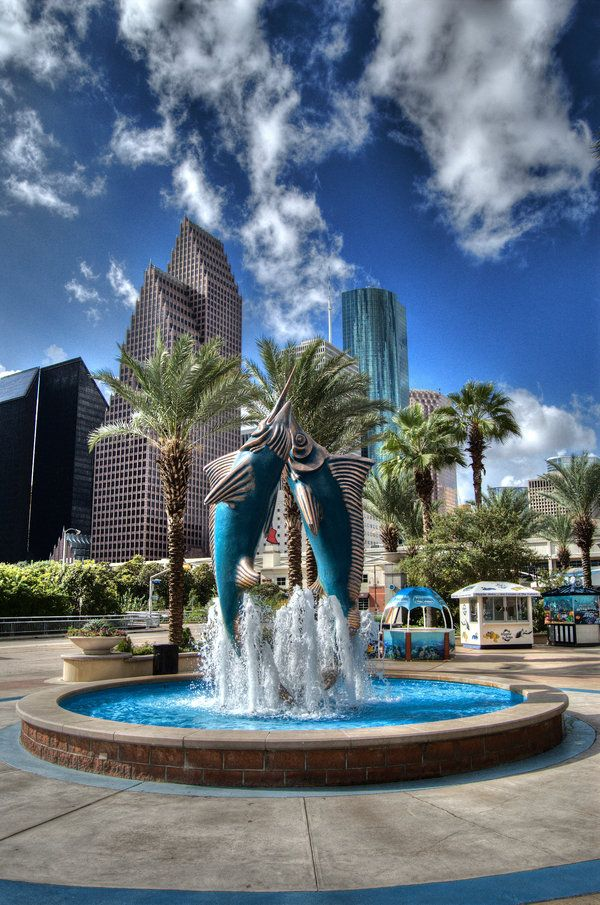 Houston #Texas -Taken from the Downtown Aquarium. HDR by nat1874.deviantart.com