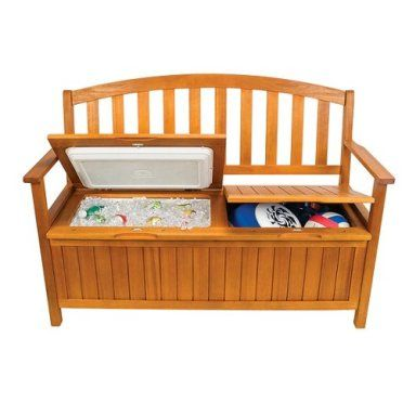 Wooden Storage Bench with a hidden Cooler