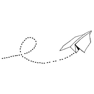Paper airplane #wallsticker | by April and May
