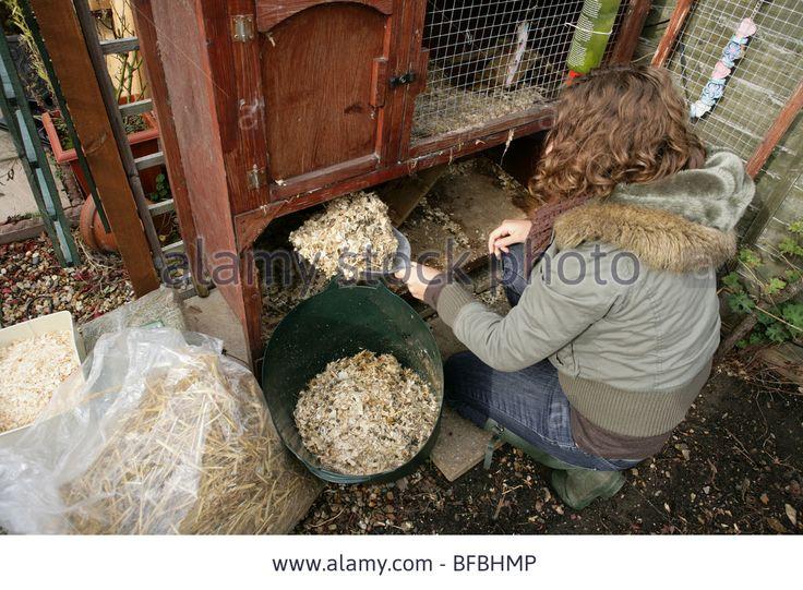 Женщинам чистки hutch кролика садовый инвентарь фото