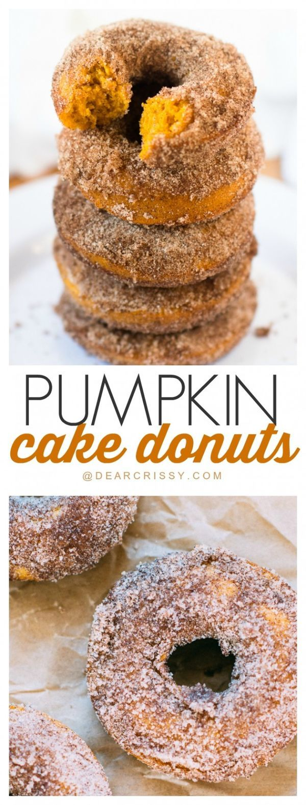 Pumpkin Cake Donuts - A simple recipe that produces a moist, sweet and…