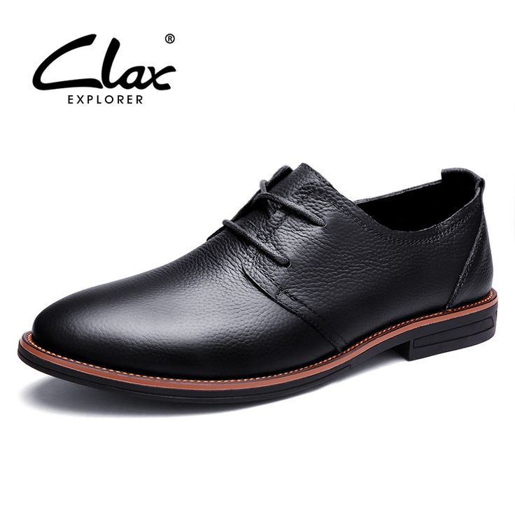 Clax Oxfords Men Genuine Leather Spring Autumn Men'S Formal Leather Shoes Dress Biritsh Vintage Retro Shoe Elegant Shoe