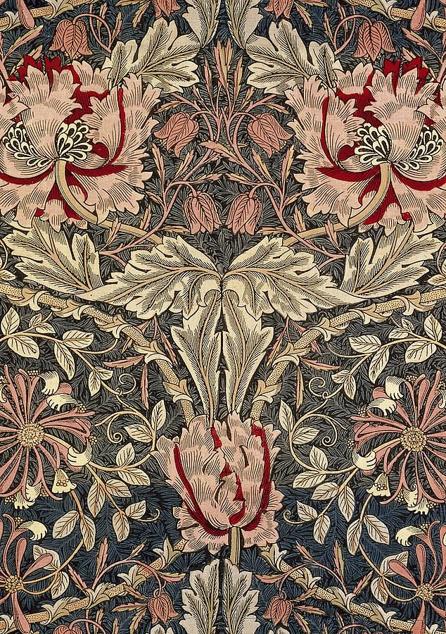 Flora And Foliage Design Tapestry - Textile. #morris #design