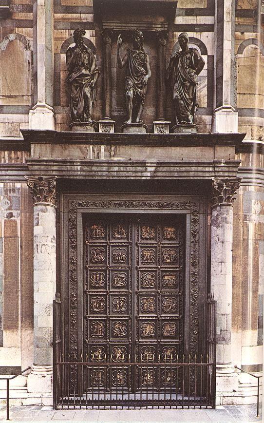 North Doors by Lorenzo Ghiberti.   ca. 1455, Florence, Italy
