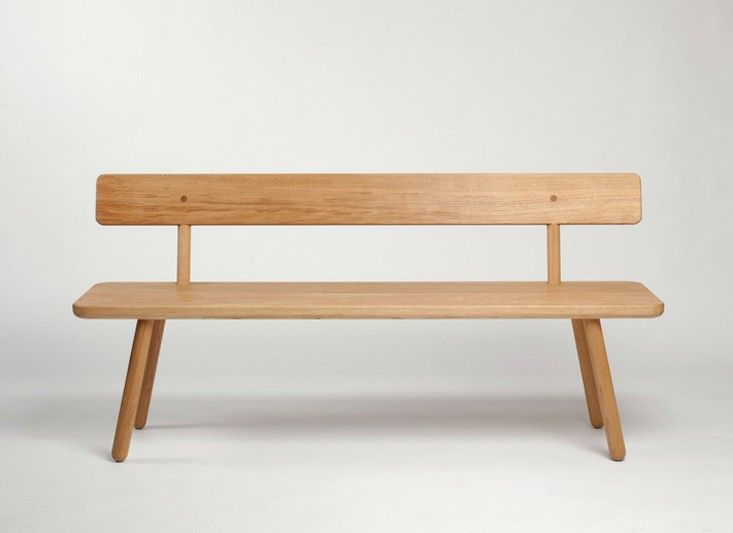 tufted dining bench with back another country bench one back remodelista more