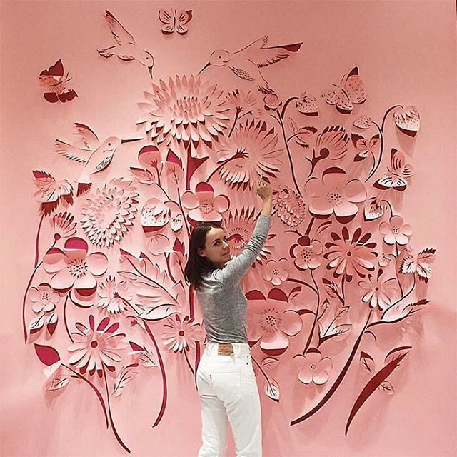 Starting the day with one of my favs from #DSPINK - an amazing installation by @caitdo