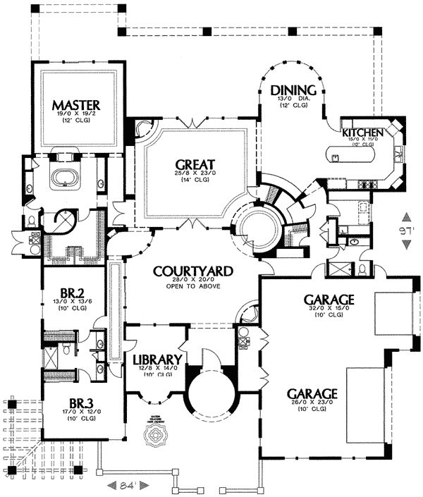 Plan 16286MD: Mediterranean House Plan With Two Turrets
