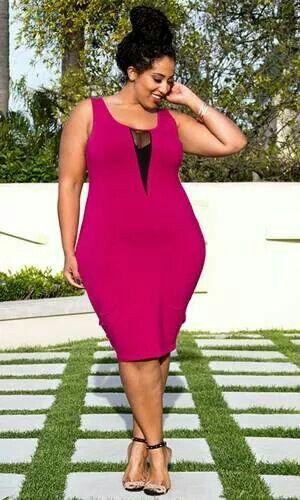 Fuchsia Body Con Dress - Plus Size - Curvy Fashion - Bold - Unique - Renegade