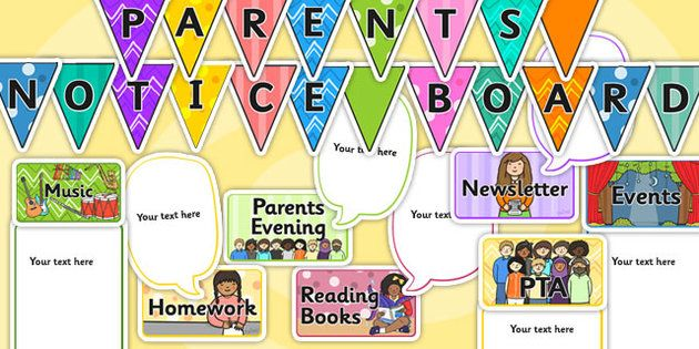 Parent Notice Board Classroom Back To School