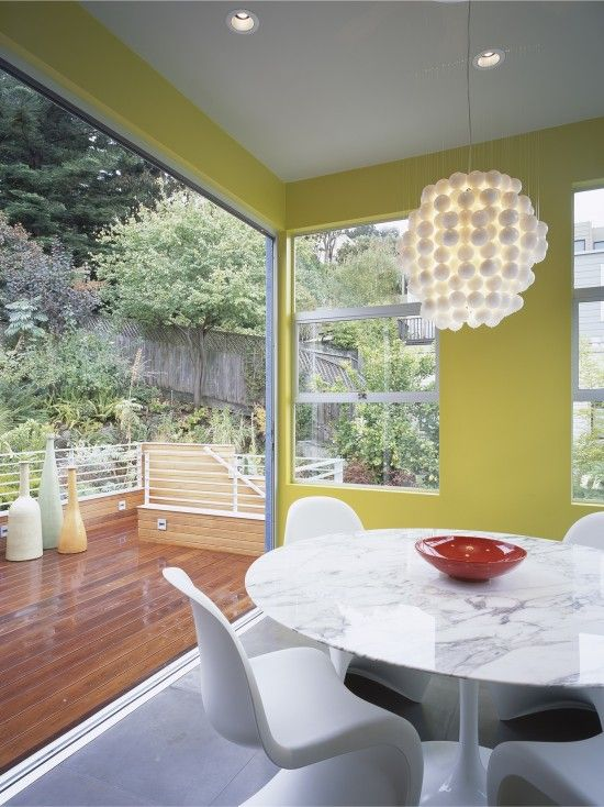 Mid Century Modern Dining Room With A View